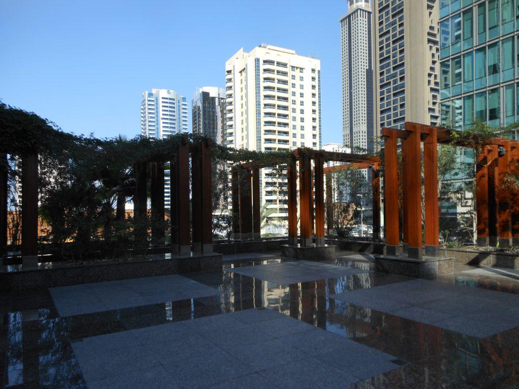 La terrasse du Ritz Carlon Dubai