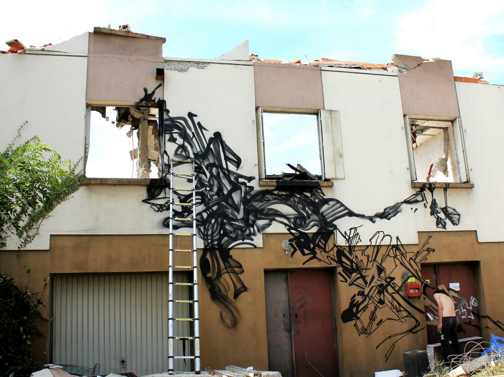 Bandi Graffiti abstract work in Progress Lyon