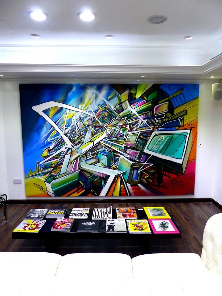 Be the change Nadib Bandi Street Art Gallery Dubai