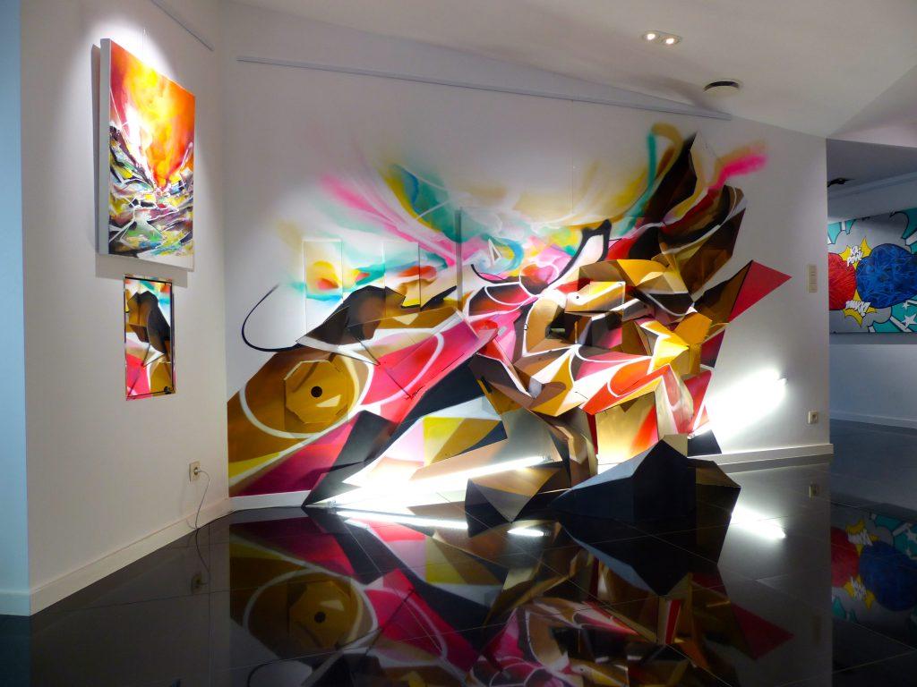 Installation Graffiti Nadib Bandi Francis noel liege