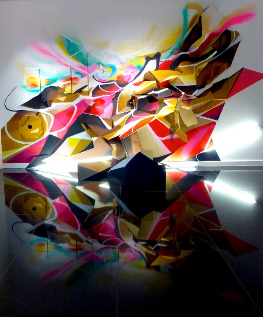 installation Graffiti Nadib Bandi Liege
