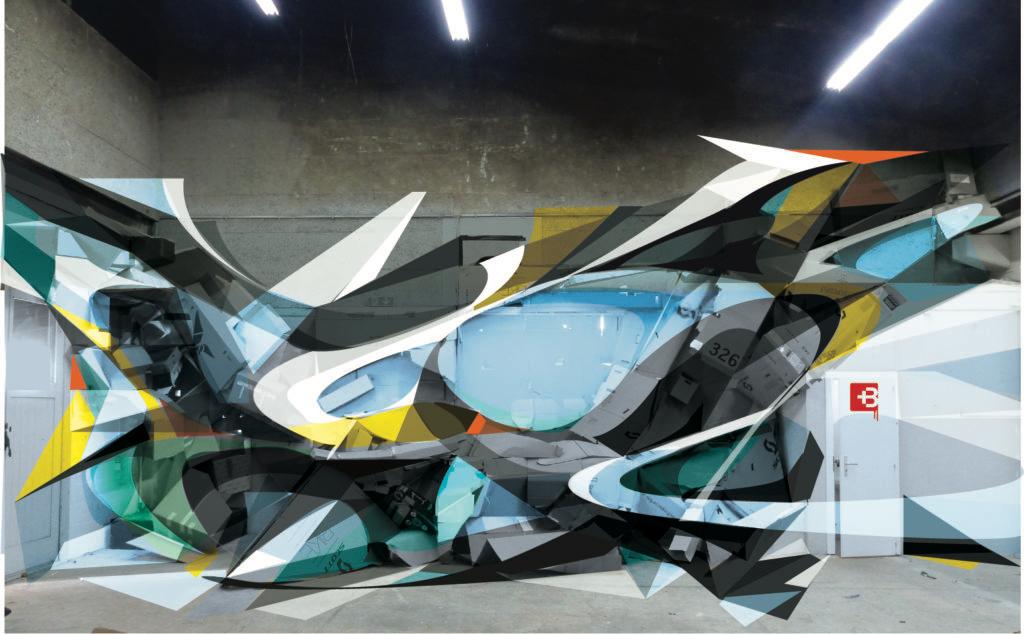 Maquette de la sculpture graffiti