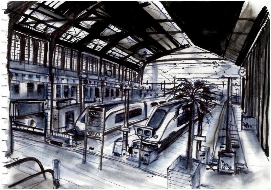 Dessin Paris gare de Lyon