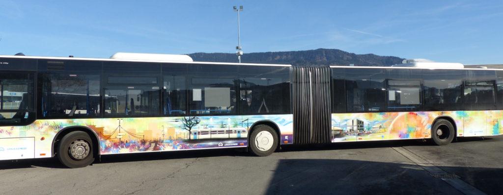 Léman express graffiti Bandi Joule Bus61