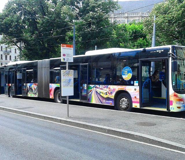 Léman express le bus 61 en circulation