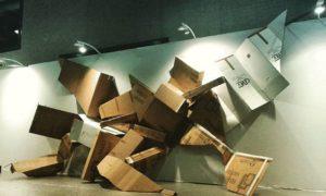 Cartons sculpture workinprogress
