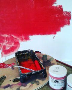 Golden Series 9 Acrylic paint spread