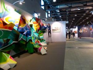 Bandi - Sculpture en live à Lausanne Art Fair.