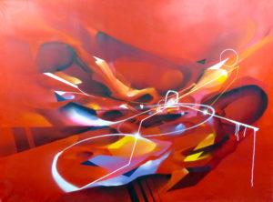 Nadib Bandi painting abstract Contemporary painting