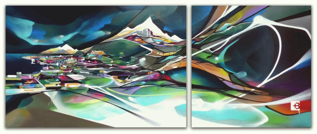 Peinture Tableau de paysage genevois par Nadib Bandi