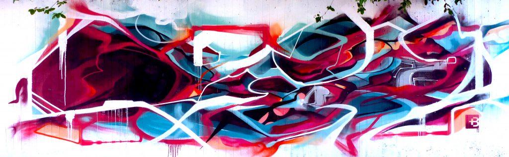 Abstract graffiti Bandi Mural geneva 2017