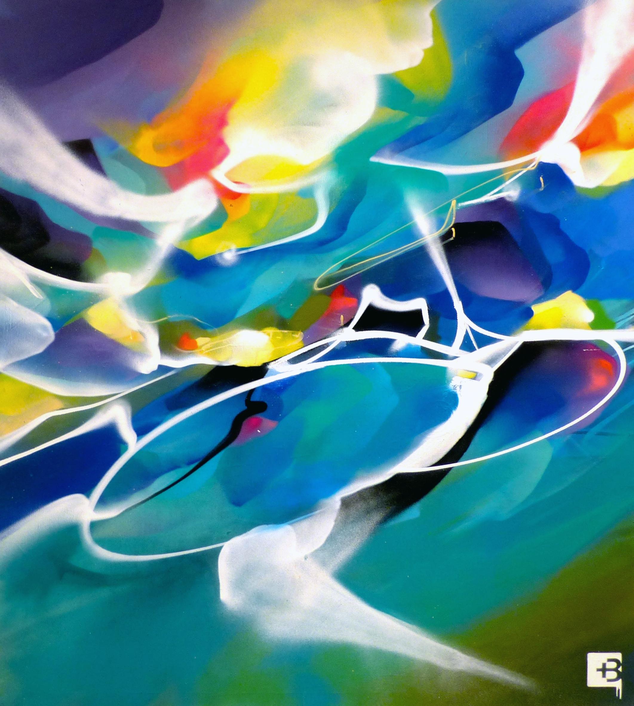art abstrait contemporain abstract graffiti nadib bandi peintures sur toiles. Black Bedroom Furniture Sets. Home Design Ideas