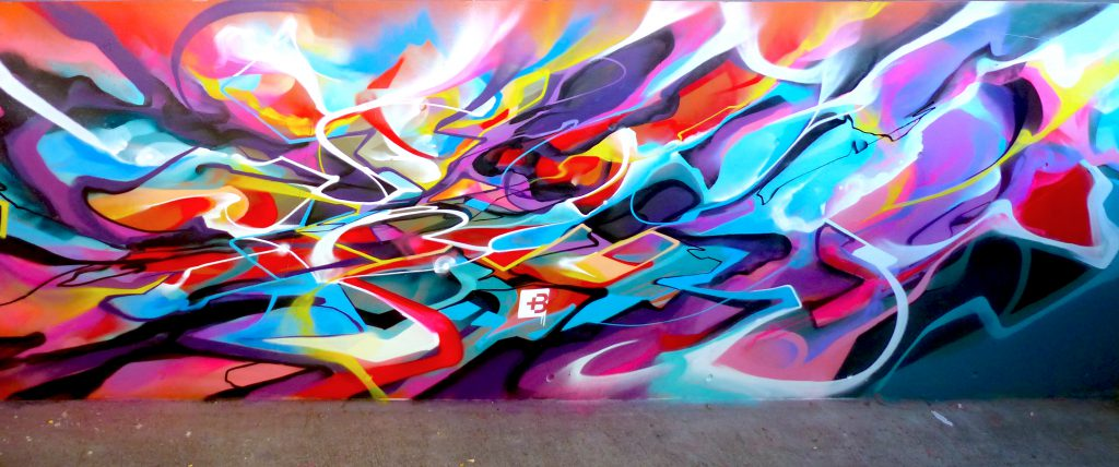Abstract Mural Graffiti Nadib Bandi Geneva