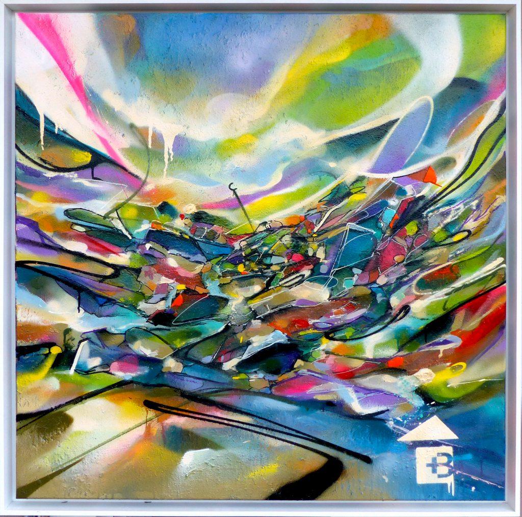 Tableau art abstrait contemporain Alpine Spring Nadib Bandi