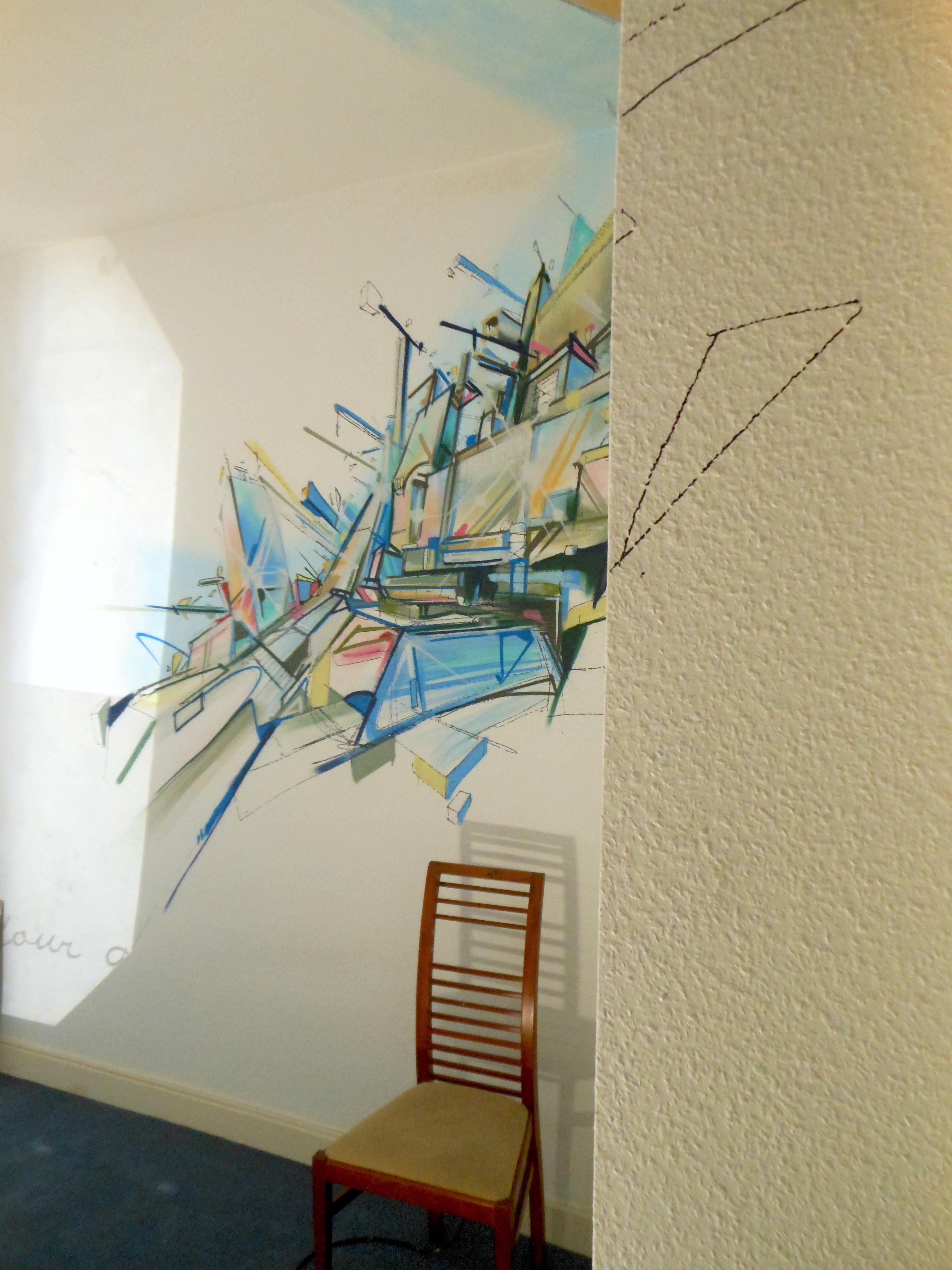 Wild city exposition app art nadib bandi graffiti mural for Sculpture design interieur