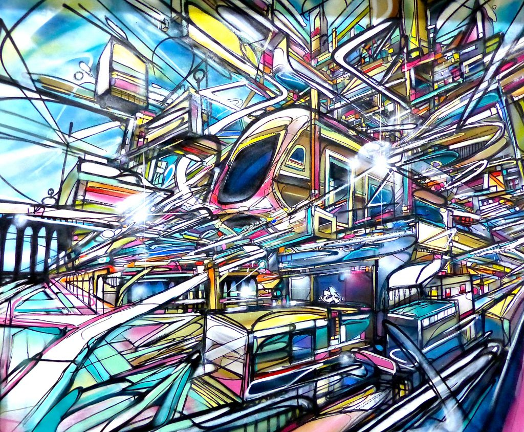 Dubai City Transit Canvas Nadib Bandi