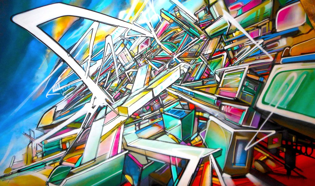 Dubai City in expansion canvas Nadib Bandi