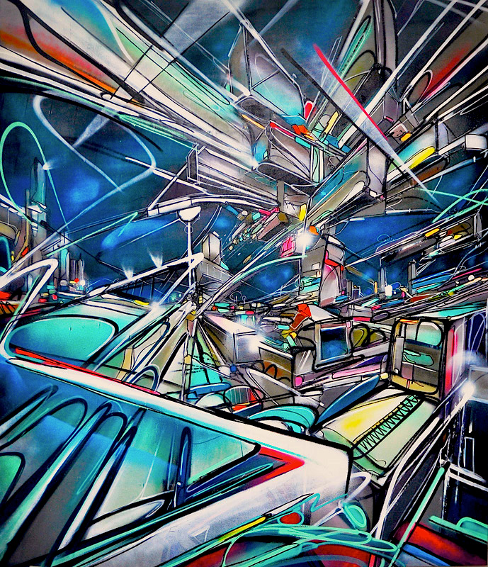 Dubai Internet City Nadib Bandi PostGraffiti