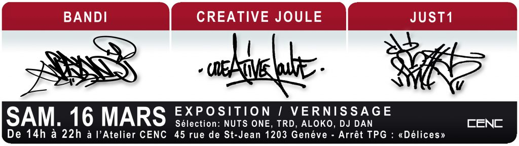 Exposition Collective Bandi Joule et Just1 au CENC