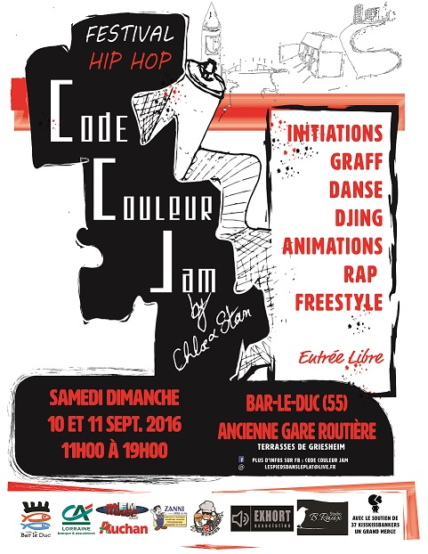 Flyer code couleur jam