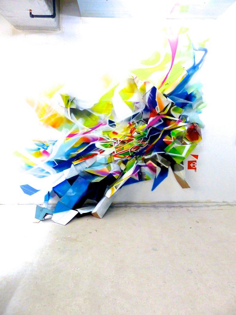 Installation graffiti 3d Nadib Bandi Baden-street art limited