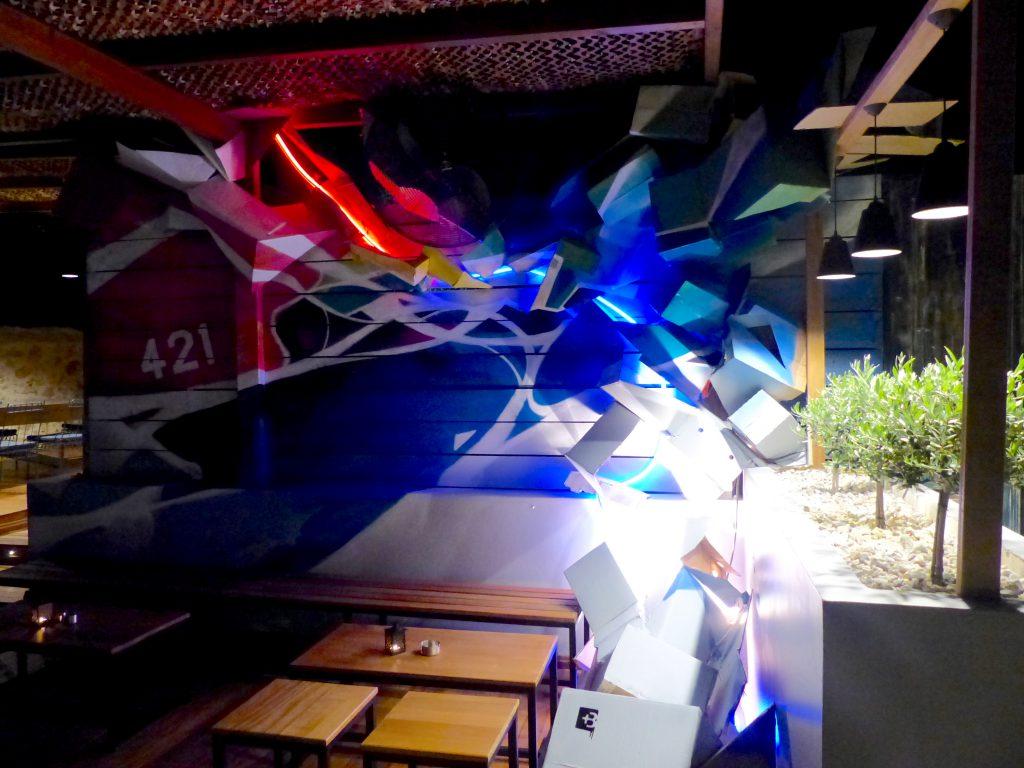 3D graffiti installation Nadib Bandi abstract graffiti 421