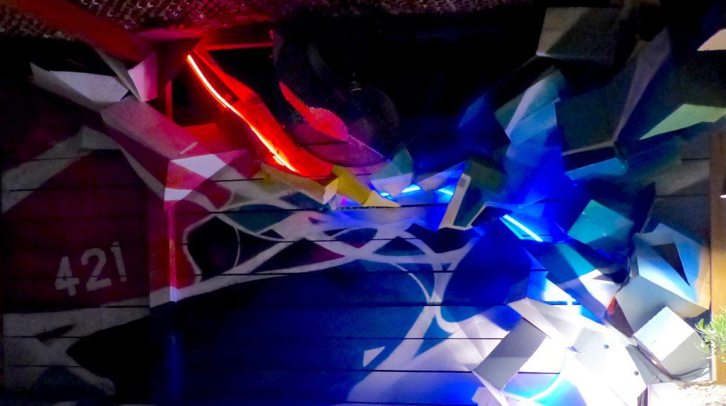 Nadib Bandi 3d Graffiti installation villa des arts 421