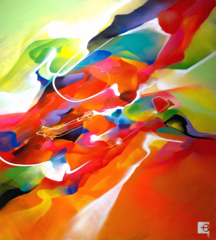 Nadib Bandi Abstract Graffiti Canvas exhibition