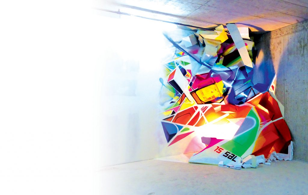 Nadib Bandi Abstract Graffiti Installation made at StreetArt.limited Zurich
