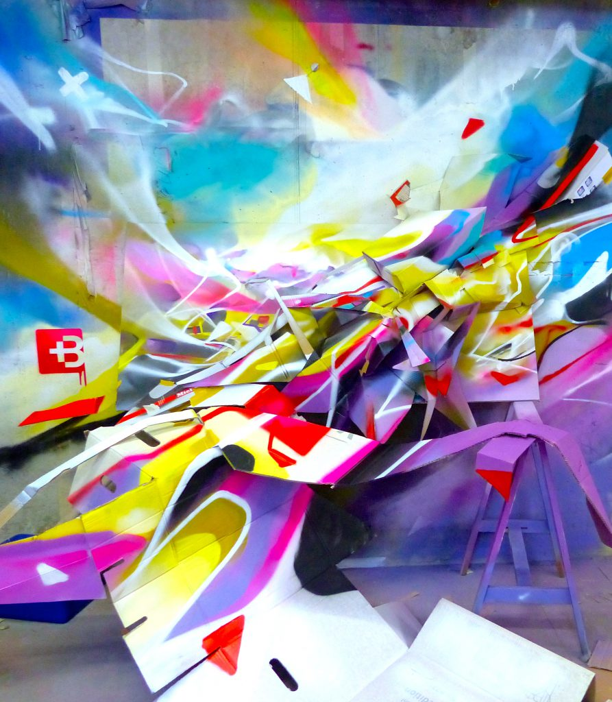 Nadib Bandi Abstract Graffiti Installation sculpture module