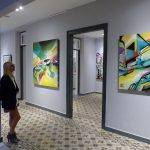 Nadib Bandi Abstract Graffiti exhibition Villa des Arts Chania