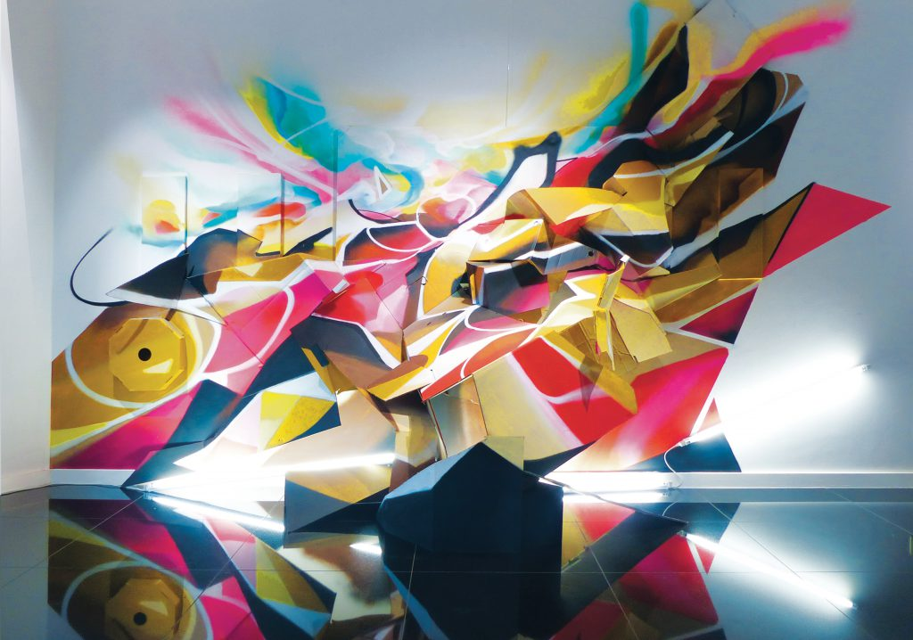 Nadib Bandi Installation Graffiti sculpture