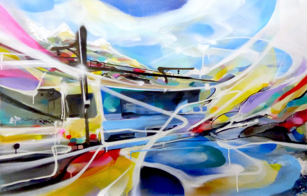 The Channel Tableau paysage peinture