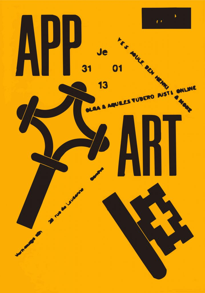 flyer exposition collective App Art geneva 2013