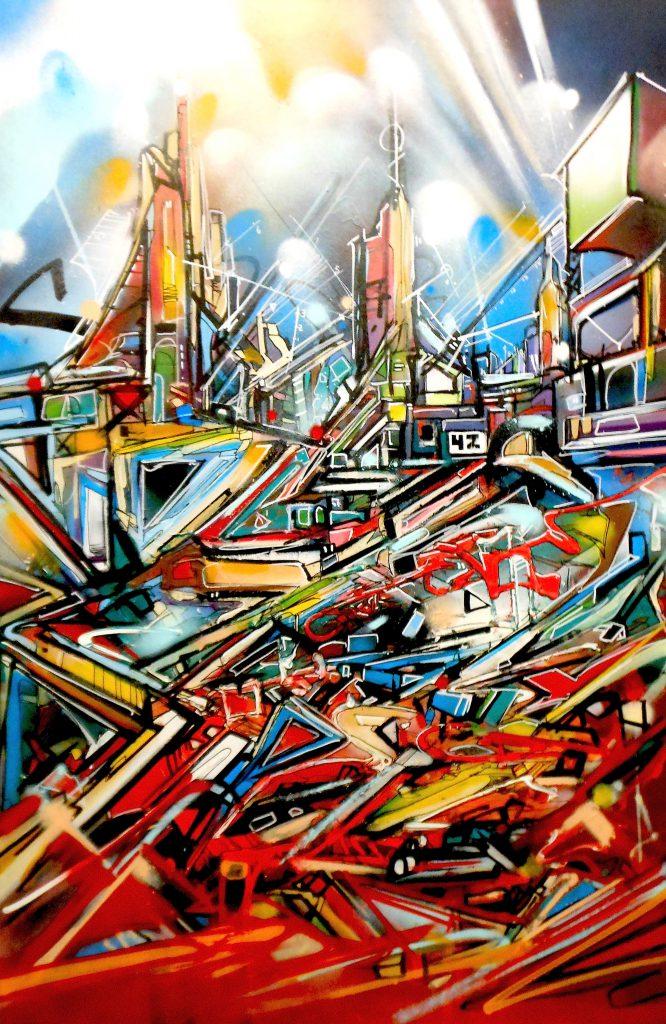 zone 42 Nadib Bandi Abstract canvas