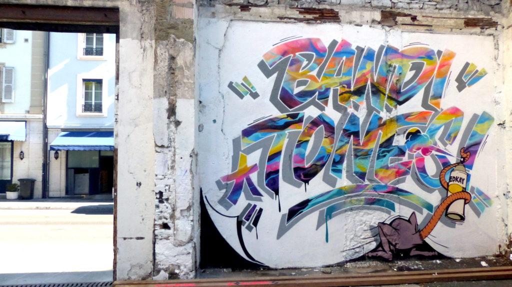 Graffiti à Genève Tones et Bandi