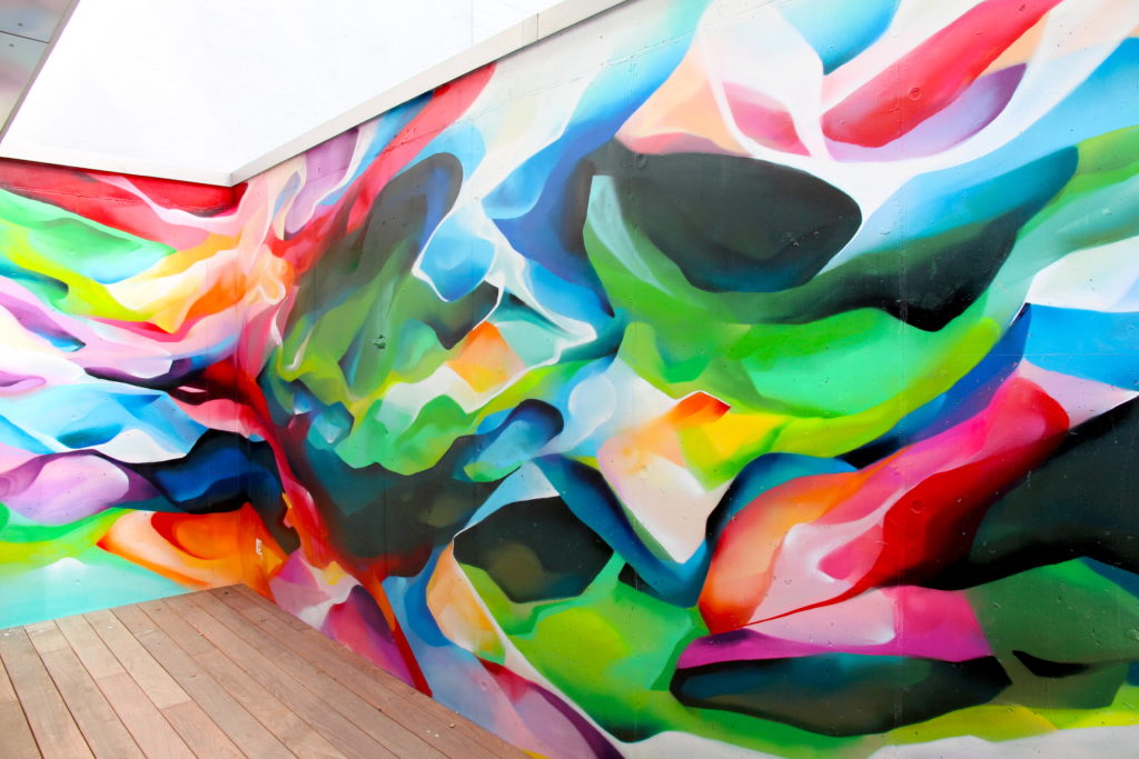 Graffiti Abstrait chez Beric architecte