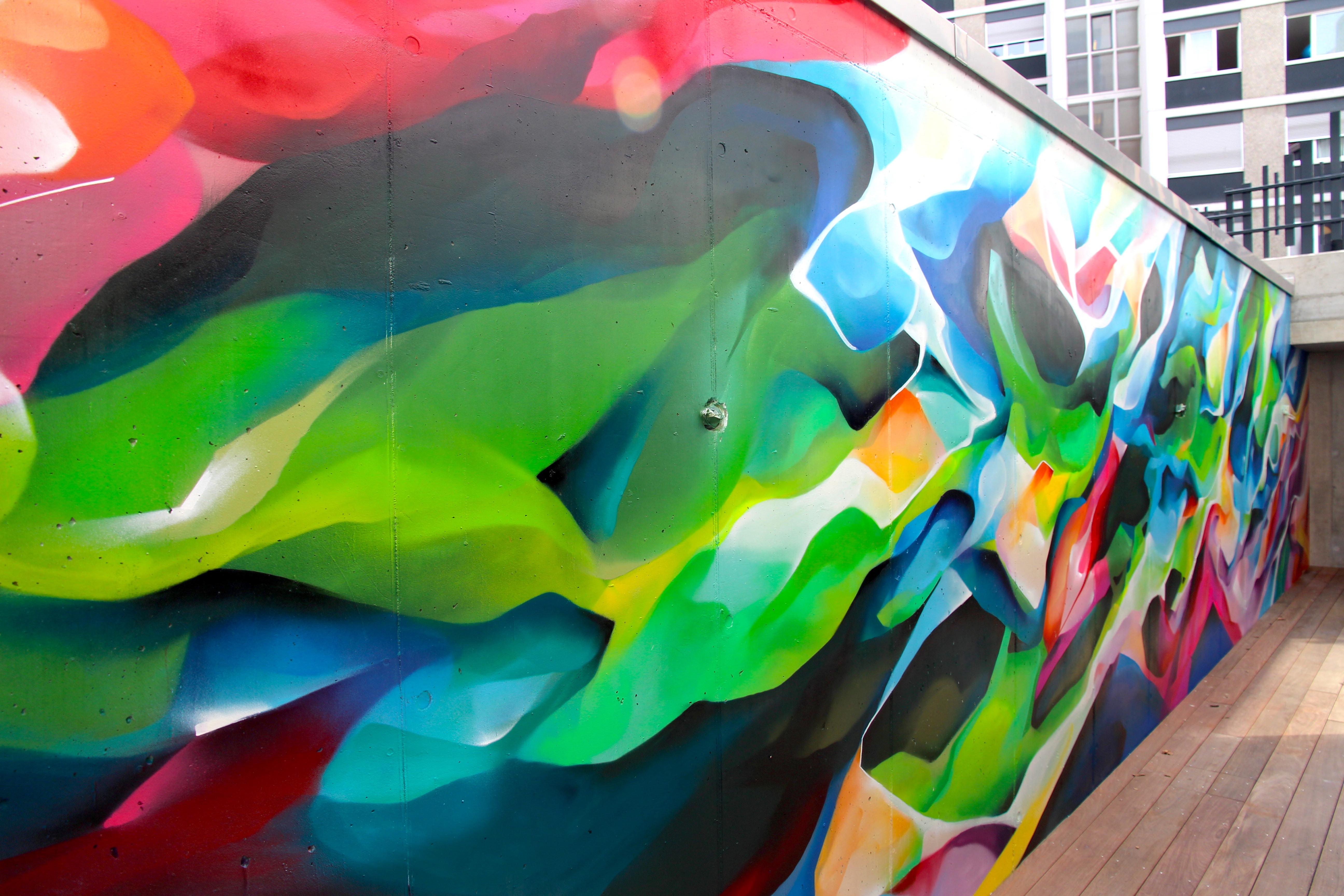 Peinture Murale Abstraite Chez Beric Architectes Nadib Bandi