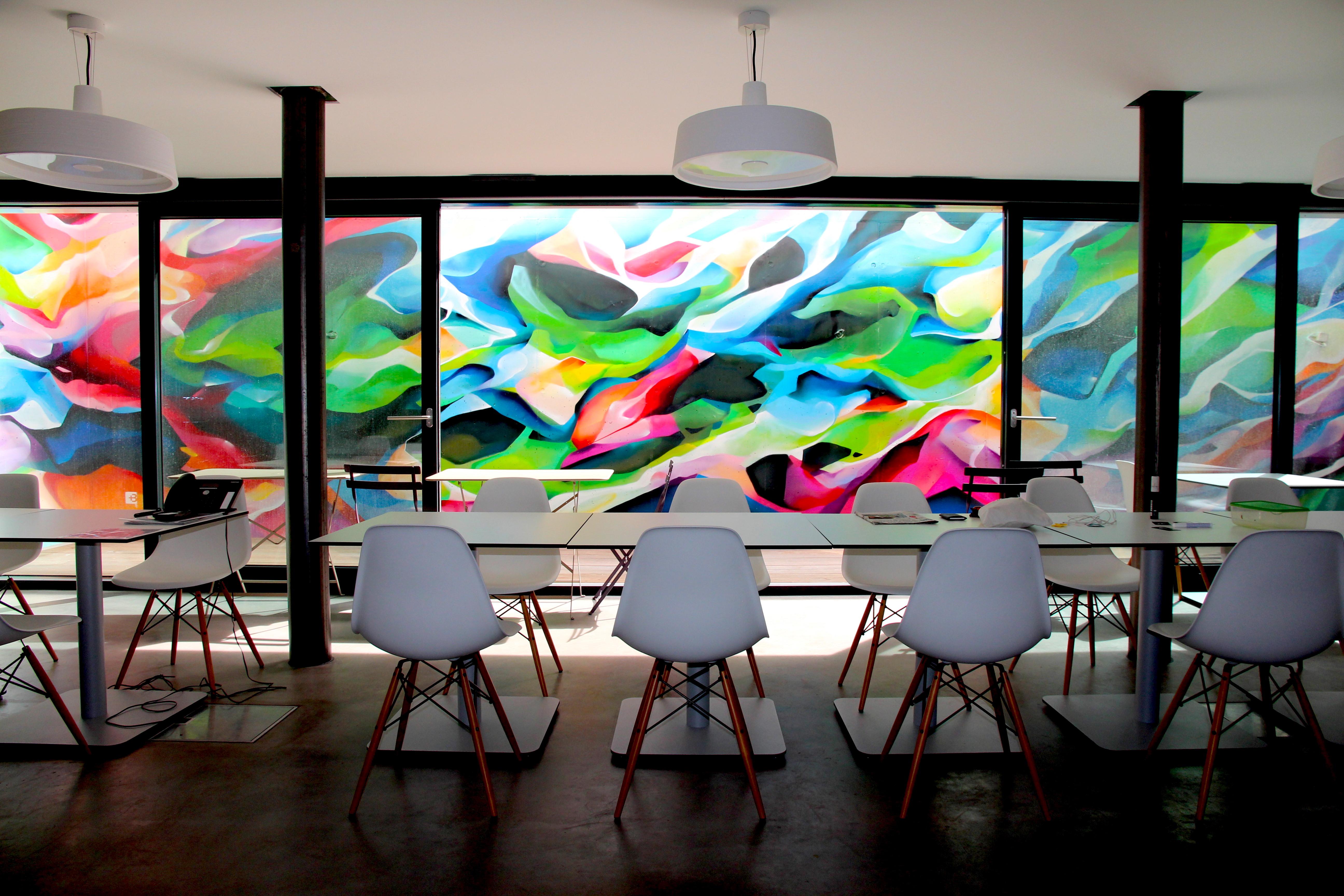Peinture Murale Abstraite Chez Beric Architectes Nadib