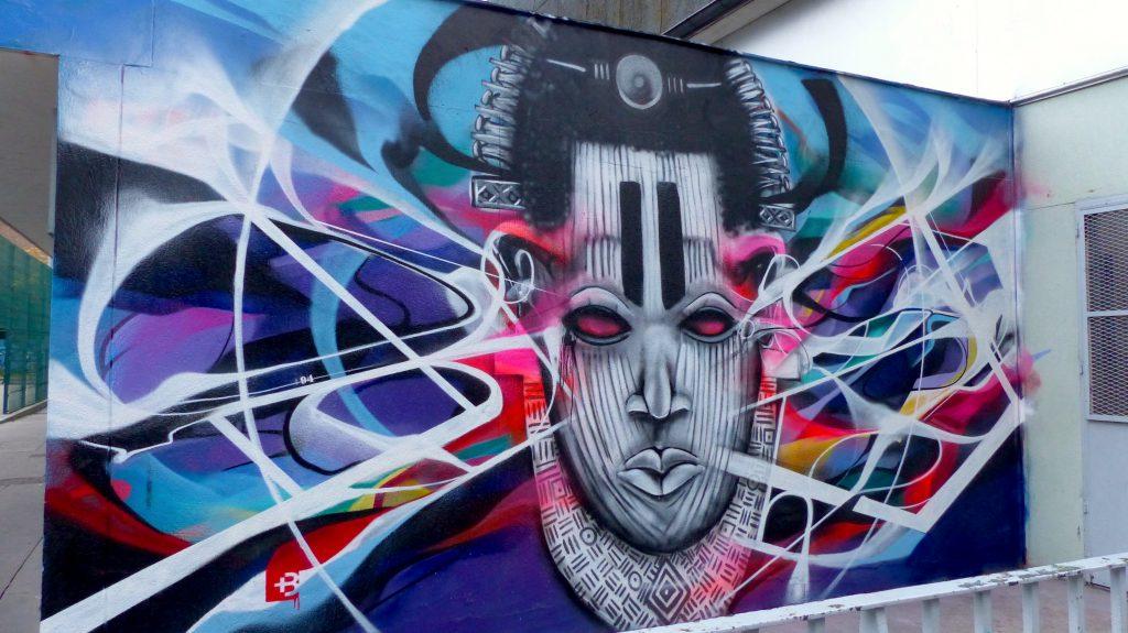 Bandi Graffiti Abstrait et SMI Graffiti Vaudou