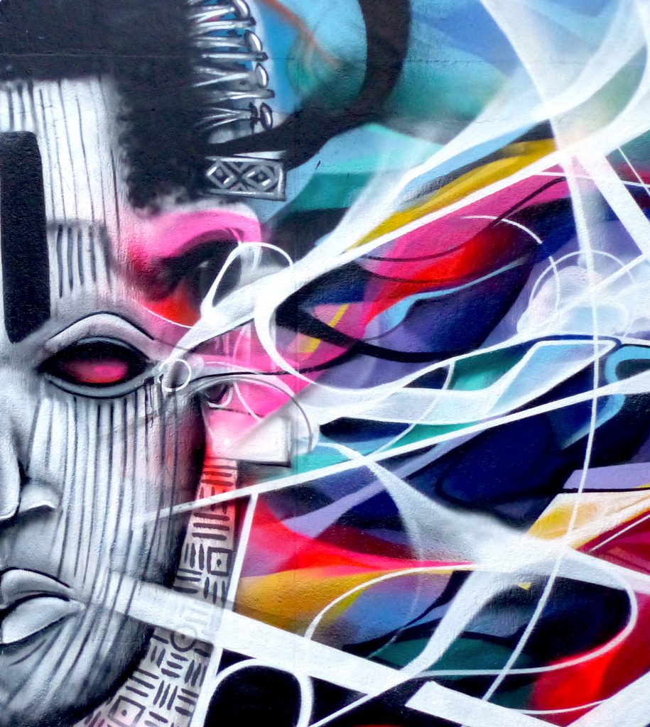 Abstract Graffiti Vaudou Detail Bandi SMI