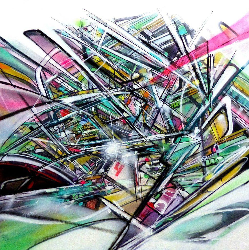 Area4 Nadib bandi canvas abstract Graffiti