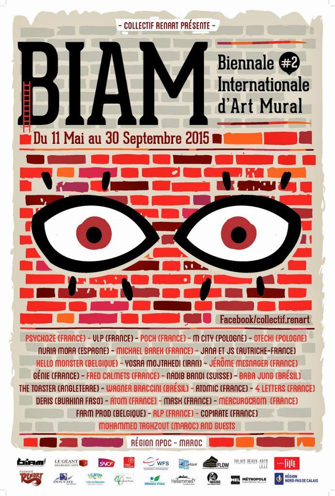 Biennale Internationale d'Art Mural 2 Lille Collectif renart
