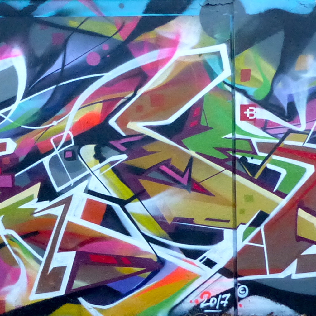 Detail Freestyle Graffiti Abstrait-Takt-Bandi