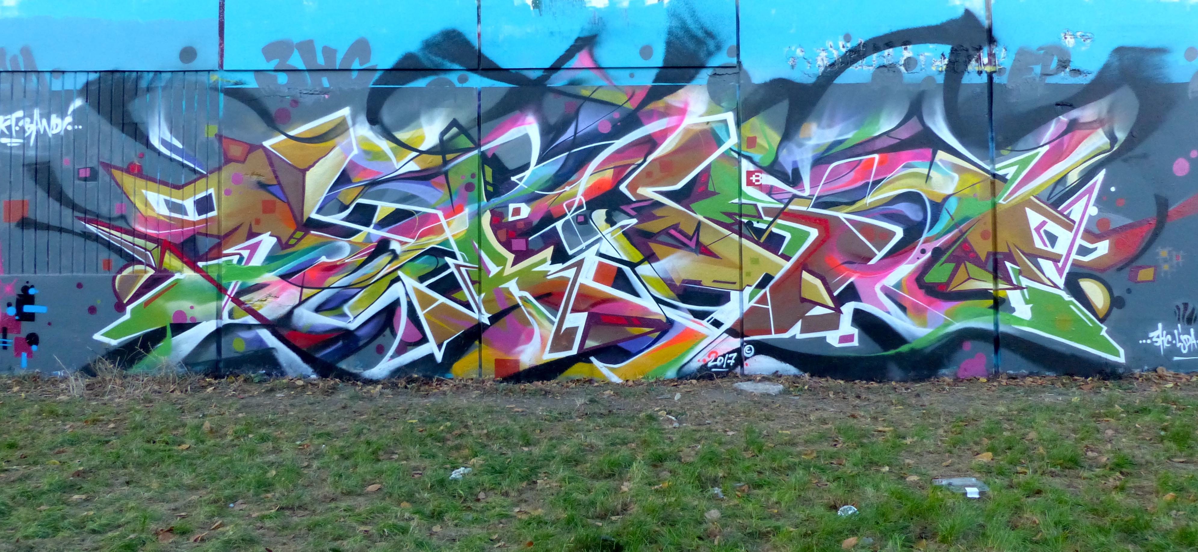 Abstract graffiti freestyle takt and bandi
