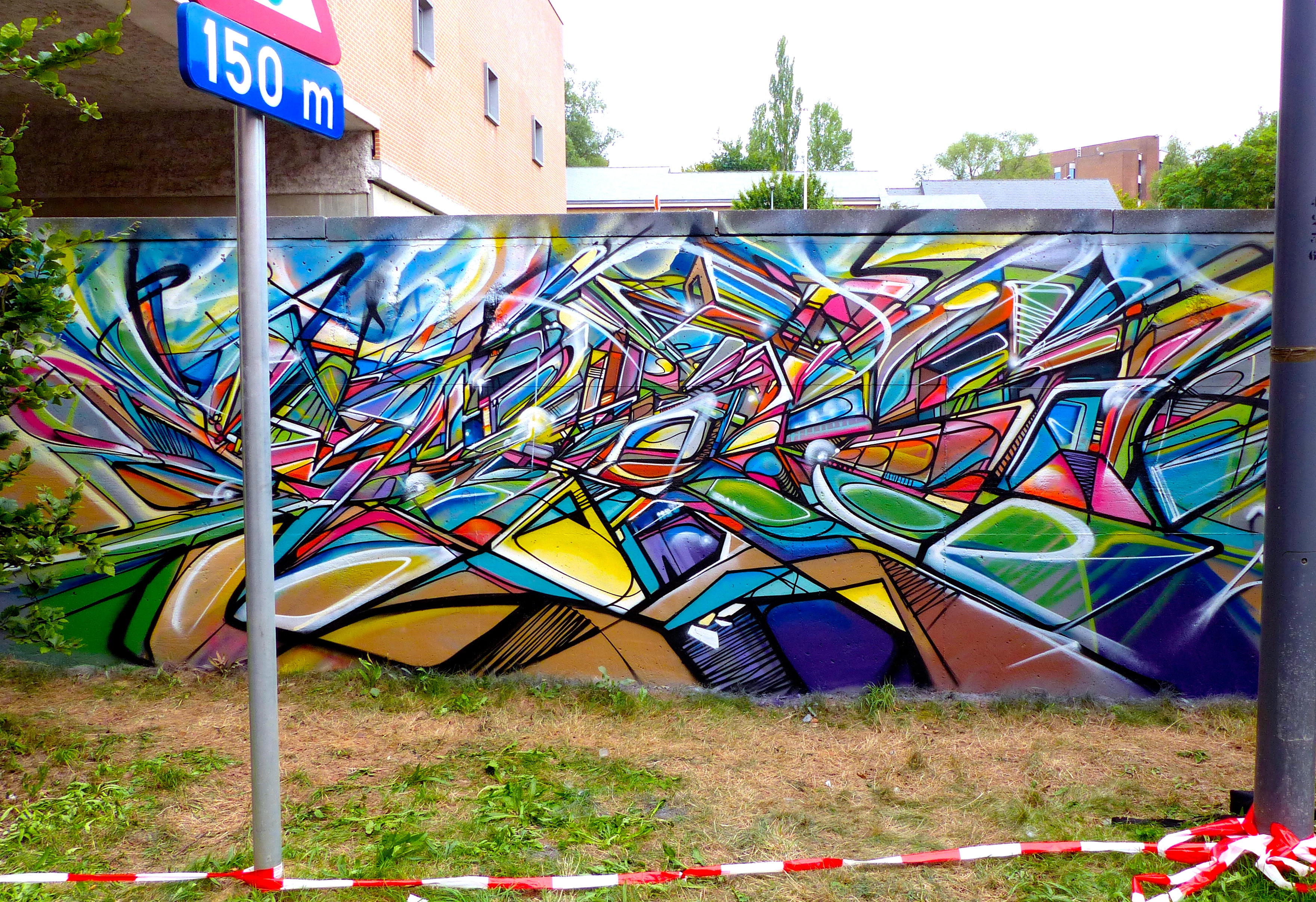Abstract graffiti freestyle before leaving