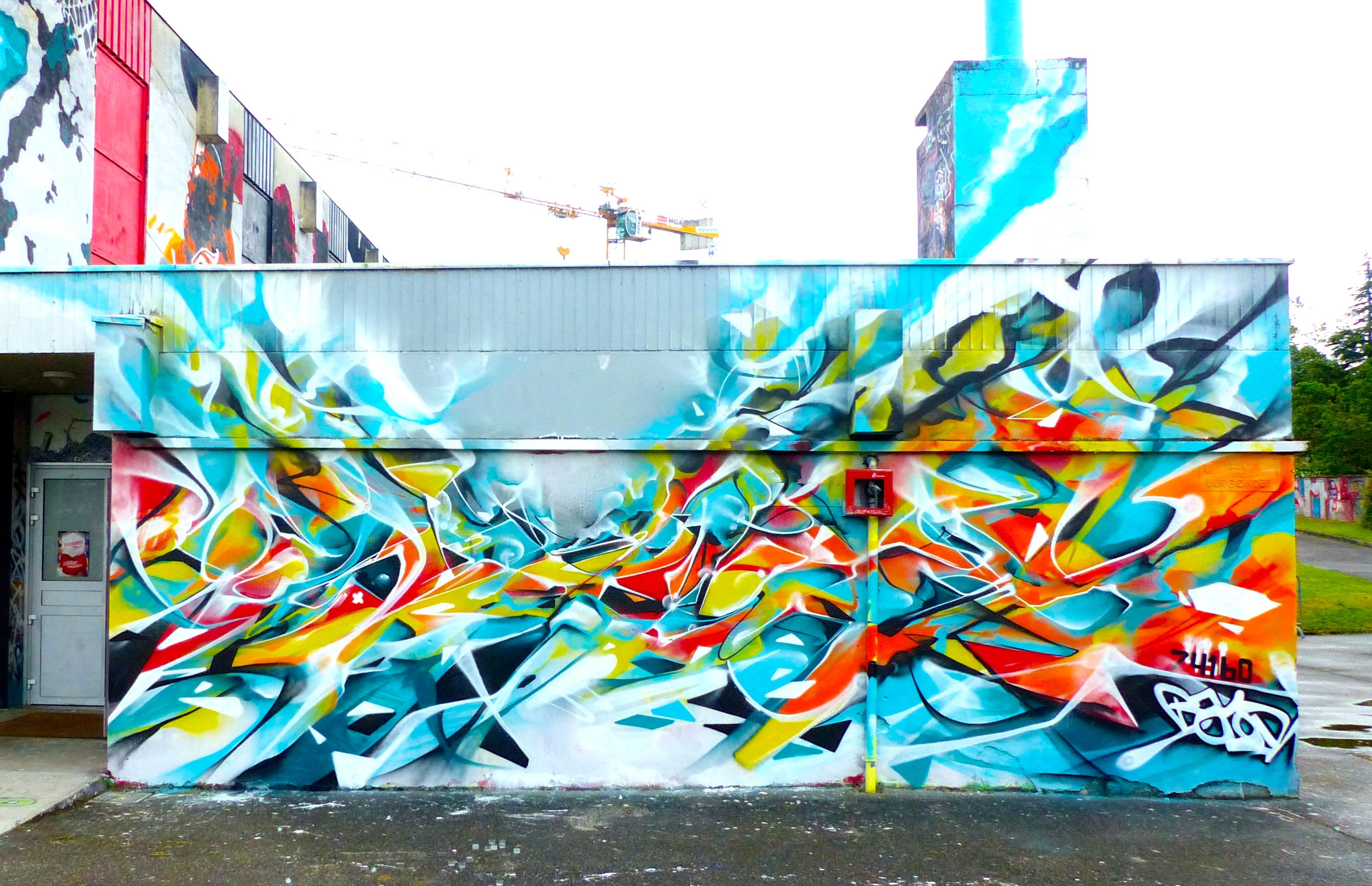 muralisme graffiti abstrait fresque 74160 nadib bandi graffiti mural. Black Bedroom Furniture Sets. Home Design Ideas