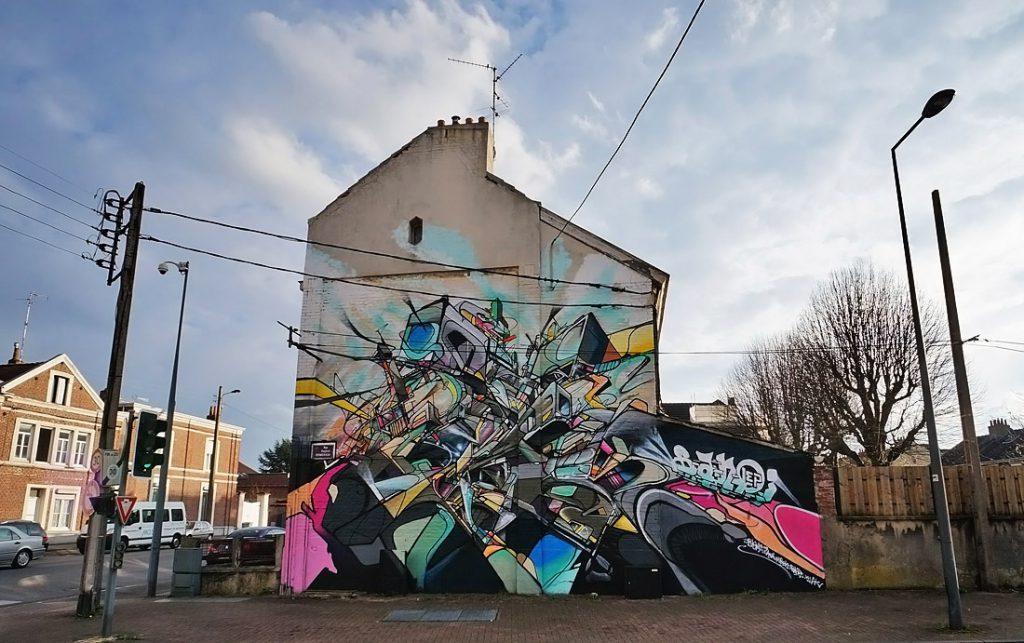 Nadib Bandi Lille Biennale internationale art mural bandi