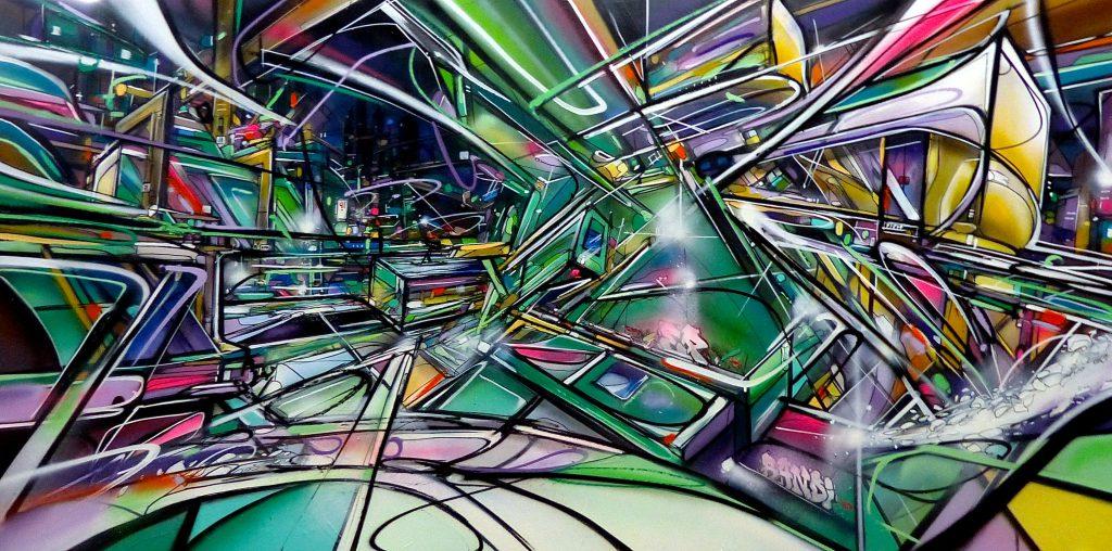 Winterize Nadib Bandi Canvas Abstract Graffiti