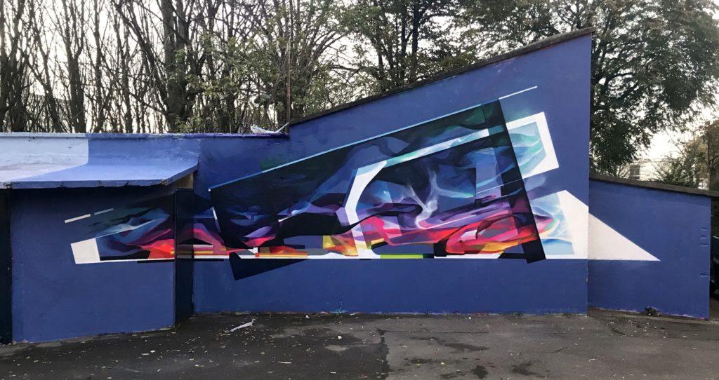 Graffiti abstrait futuriste Bandi Tacos
